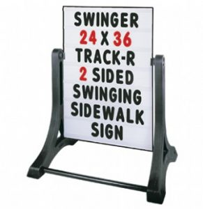 Pavement Swing Sign